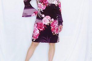 ワンピース rinascimento 花柄 袖付き
