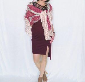 ワンピース rinascimento ボルドー ドレス